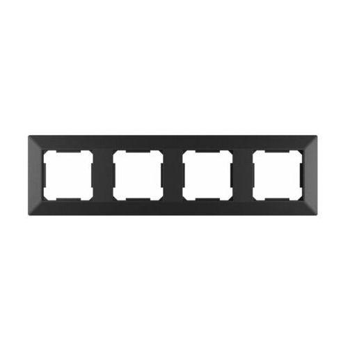 Lexman Ramka pooczwórna edg1004b czarna (5901171248381)