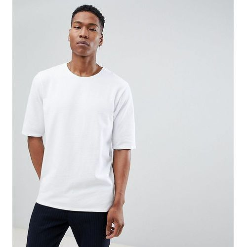 Noak oversized t-shirt in premium textured jersey - White, kolor biały