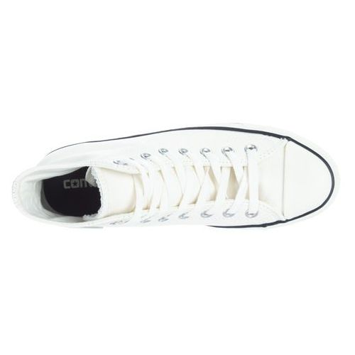 Converse  chuck taylor all star tumbled leather hi tenisówki i trampki wysokie egret/black