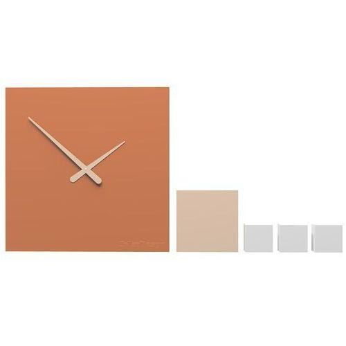 Zegar ścienny do pokoju młodzieżowego kubo terakota (10-325-24) marki Calleadesign