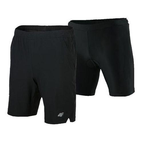Spodnie rowerowe 2w1 z wkładką l18 rsm002 czarny xxl marki 4f