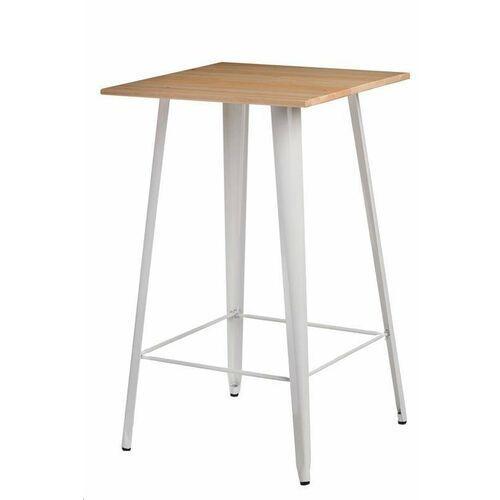 Stół barowy paris wood biały sosna naturalna marki D2.design