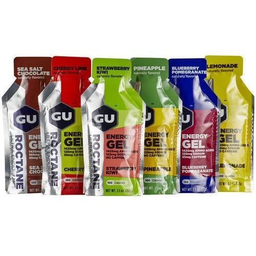 Gu energy roctane gel żywność energetyczna 6 x 32g kolorowy batony i żele energetyczne