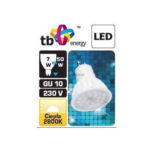 Tb energy Żarówka led  gu10 230v 7w biały ciepły 575 lumenów - promocja!!! (5902002015004)