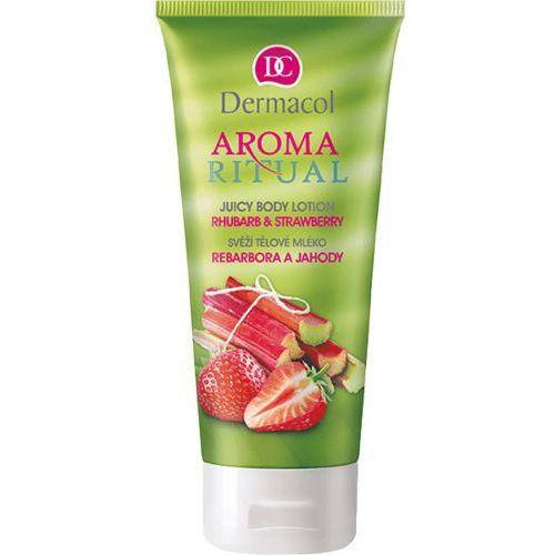 aroma ritual rhubarb & strawberry mleczko do ciała 200 ml dla kobiet marki Dermacol