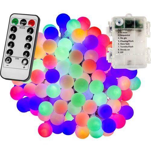 Voltronic ® Girlanda 50 led kulki na ogród lampki choinkowe dekoracyjne wielokolorowe - mix kolorów / 50 led