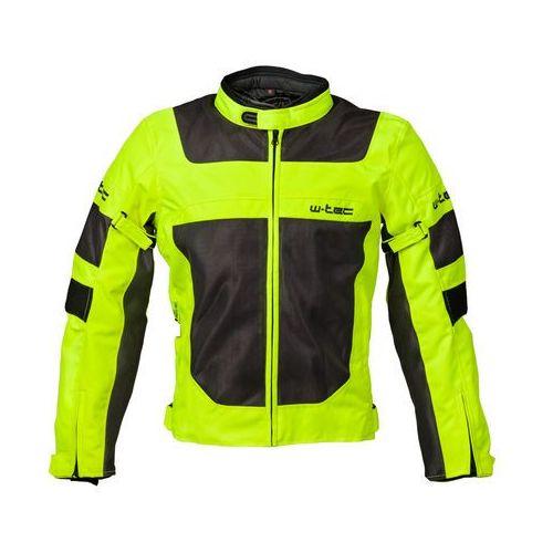 Męska letnia kurtka motocyklowa W-TEC Fonteller, Yellow-Grey, 5XL, kolor żółty