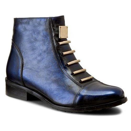 Eksbut Botki - 66-4088-f63-1g czarny/niebieski lic
