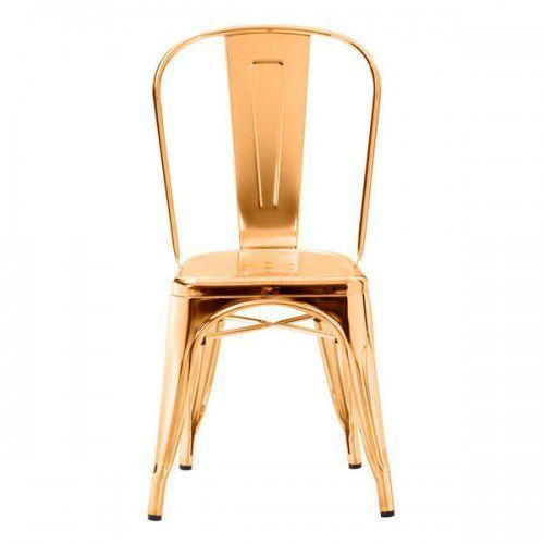 Kh Krzesło paris gold metal insp. proj. tolix