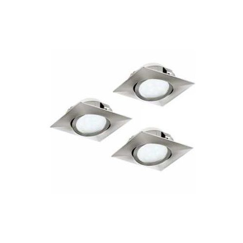Eglo 95846 - zestaw 3x led oprawa wpuszczana pineda 3xled/6w/230v (9002759958466)