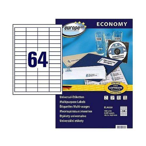 Etykiety samoprzylepne Economy Avery Zweckform 48,5x16,9mm białe, 100ark. A4, ELA050