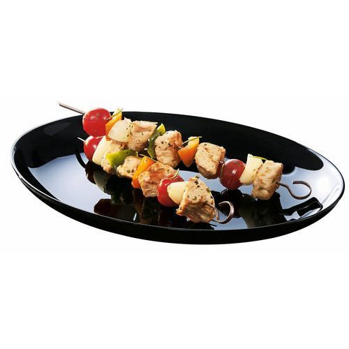 Talerz barbecue czarny Friend's Time | 328x250x(H)31 mm