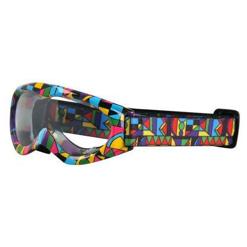 W-tec Dziecięce motocyklowe okulary spooner, kolorowa grafika (8595153642969)
