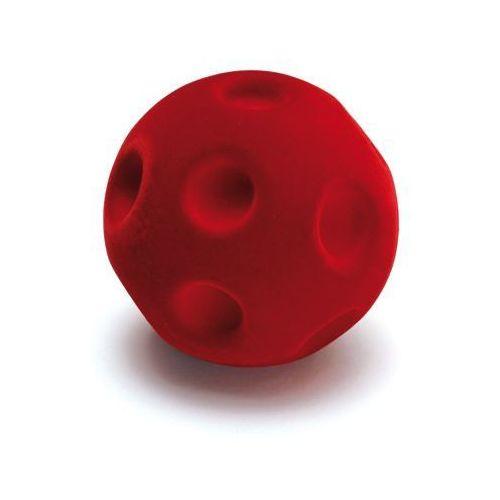 Gumowa czerwona piłka do ćwiczeń manualnych i małej motoryki - zabawki dla dzieci marki Erzi