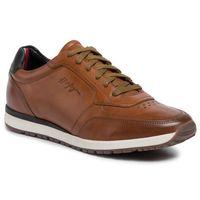 Sneakersy - premium leather runner fm0fm02550 natural cognac gtu marki Tommy hilfiger