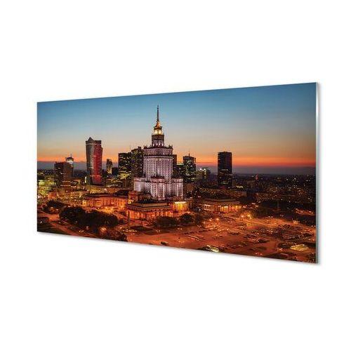 Tulup.pl Obrazy akrylowe warszawa wieżowce noc panorama
