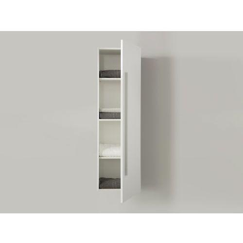 Meble łazienkowe - szafka wisząca łazienkowa biała - MATARO (7081452755987)