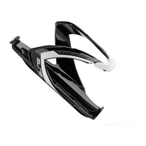 EL0061677 Koszyk na bidon ELITE CUSTOM RACE czarny z białym logo