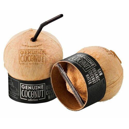 Kokos bio z zawleczką i słomką 450 g - marki Genuine coconut