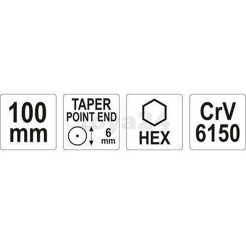 Punktak 6x100 mm yt-47150 - zyskaj rabat 30 zł marki Yato