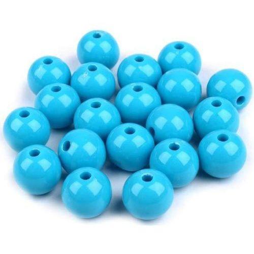 Kolorowe korale plastikowe 20 szt. - niebieskie - NIE (20090601)