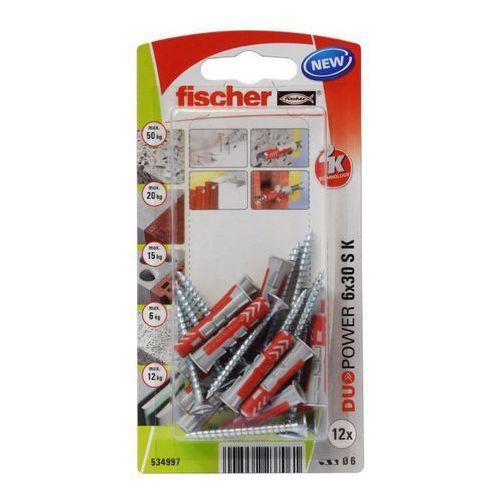 Fischer Kołek uniwersalny duopower 6 x 30 z wkrętem 12 szt. (4048962237061)
