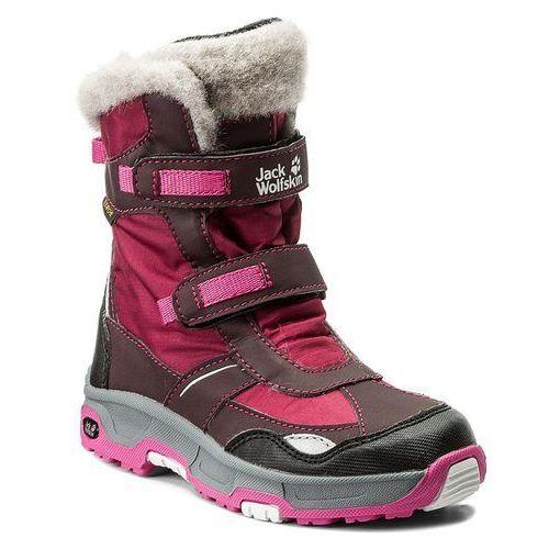Śniegowce JACK WOLFSKIN - Girls Snow Flake Texapore 4012013 Mahogany M, kolor różowy