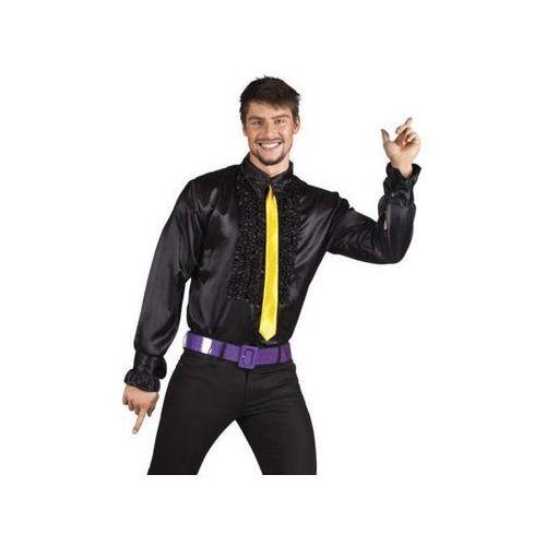 Koszula z falbanami czarna - xl przebranie dla dorosłych, marki Aster