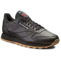 Buty Reebok - Cl Lthr 49800 Black/Gum, kolor czarny