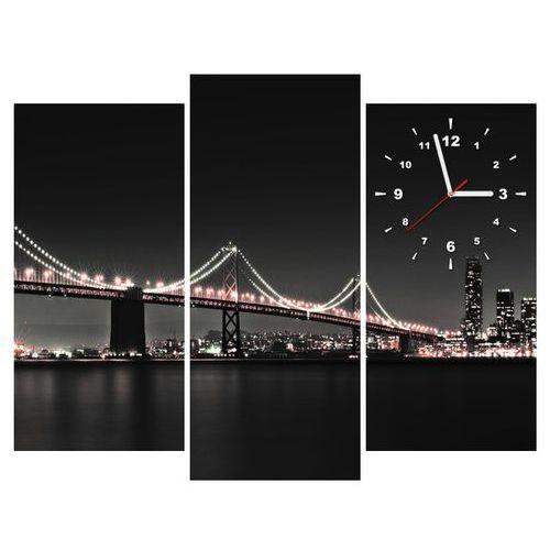 Zegar w obrazie - czerwony most w san francisco - tanel teemusk marki B2b