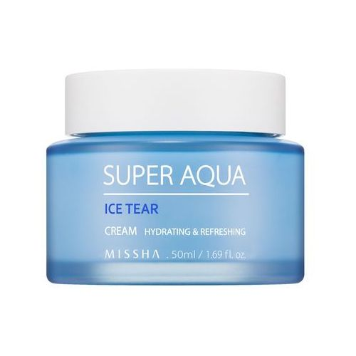 Missha Super Aqua Ice Tear Cream - Lekki nawilżający krem do twarzy 50ml