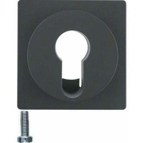 Berker q.1/q.3 płytka czołowa do łącznika na klucz, antracyt aksamit, lakierowany 15076086