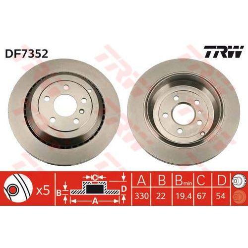 TARCZA HAM TRW DF7352 MERCEDES GL450, GL500, GL320 CDI, GL420 CDI 06-, ML500 4-MATIC 05-
