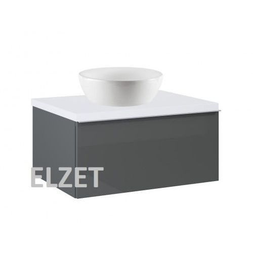 ELITA szafka Look 1S anthracite pod umywalkę nablatową + blat 60 white 167076+166890, 167076.166890