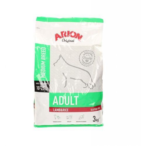 Arion original adult medium - jagnięcina z ryżem 3kg (5414970055338)