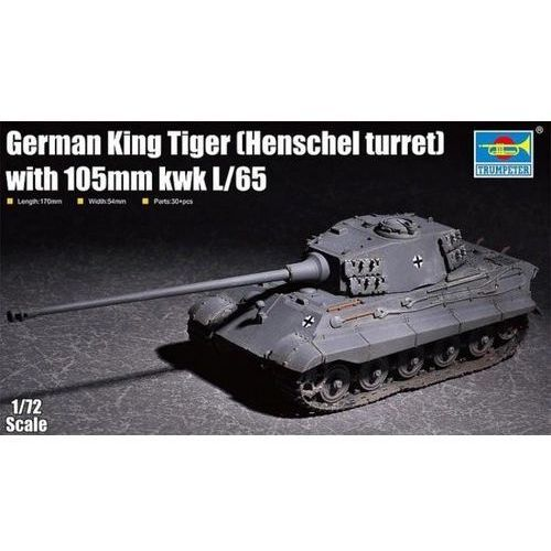 Plastikowy model do skejania King Tiger w/ 105mm kWh (Henschel Turret), GXP-721207