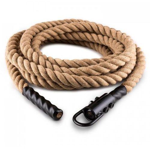 Lina Power Rope z hakiem 15 m 3,3 cm Lina konopna do ćwiczeń siłowych Zamocowanie sufitowe