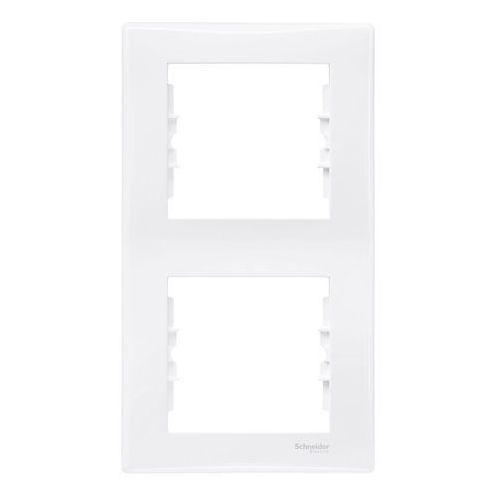 Sedna Ramka podwójna pionowa Schneider biała SDN5801121, kolor biały