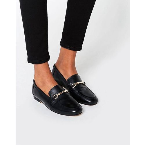 ASOS MOVEMENT Leather Loafers - Black