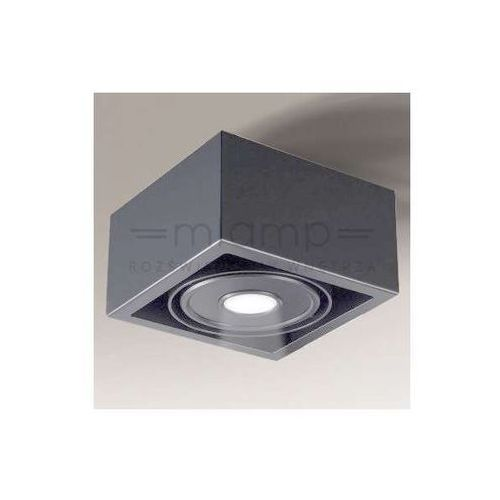 Spot lampa nastropowa uto il 1221/led/sz regulowana oprawa kwadratowa led 10w kostka cube szara marki Shilo