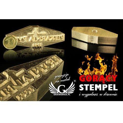 Grawernia.pl - grawerowanie i wycinanie laserem Stempel do wyciskania logotypu na gorąco i zimno - wymiary matrycy: 67x23mm - cnc