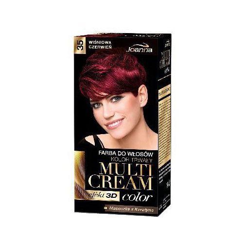 Joanna Farba do włosów  multi cream color wiśniowa czerwień 35