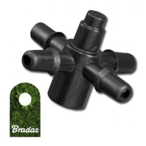 Czwórnik do emiterów i kroplowników patykowych wejście 5mm wtyk na wąż 3x5mm 9982 marki Bradas