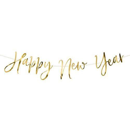 BANER HAPPY NEW YEAR ZŁOTY 0,66m