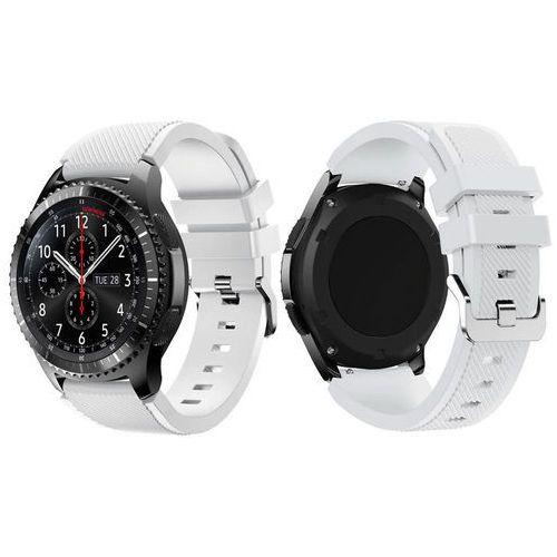 Gumowy pasek sportowy do Samsung Gear S3 karbon biały - Biały