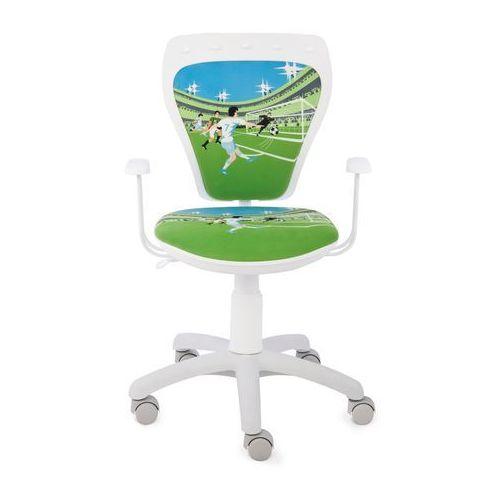 Obrotowe krzesło dziecięce ministyle white - laliga - szkolna promocja! marki Nowy styl