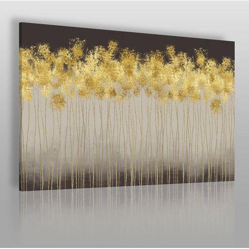 Vaku-dsgn Złoty deszcz - nowoczesny obraz na płótnie