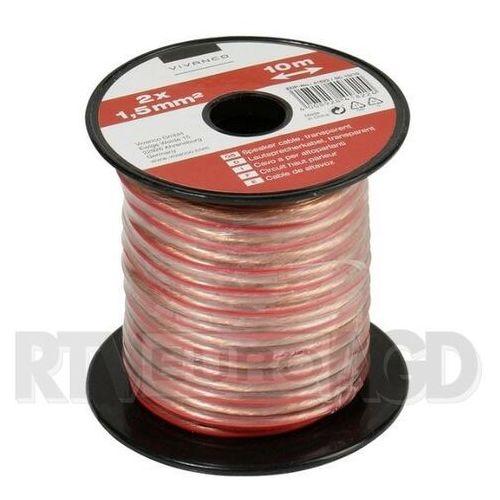 Kabel głośnikowy VIVANCO 2 x 1.5mm2 10m (46822) Transparentny (4008928468229)