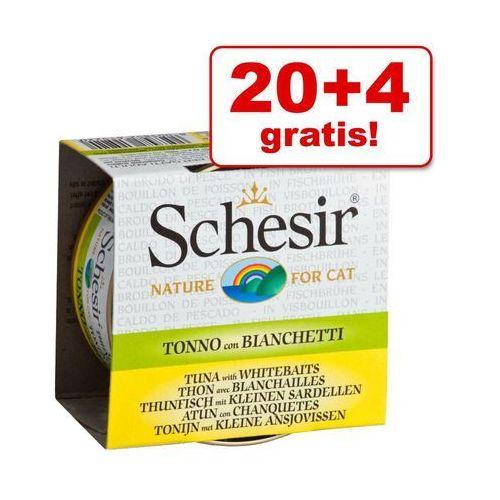Schesir 20 + 4 gratis! w bulionie, 24 x 70 g - tuńczyk z doradą