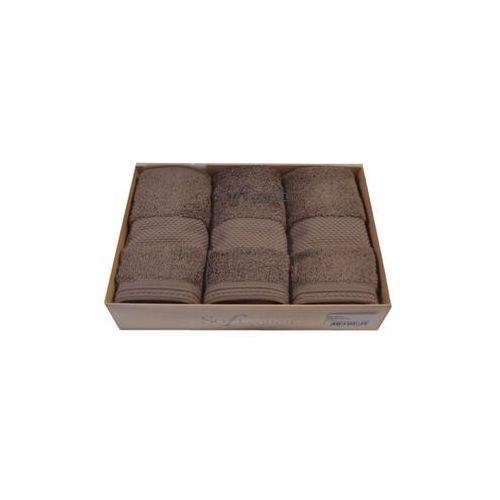 Zestaw podarunkowy małych ręczników DELUXE Brązowy (8698642046894)